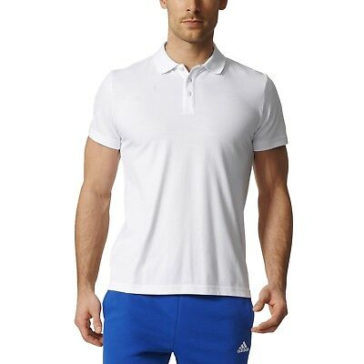 adidas Performance Herren Sport Polo Shirt Essentials Basic Base Polo weiß