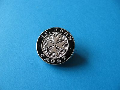 "ST JOHN AMBULANCE  ""CADET"" Badge. Brooch Fixing. Enamel, VGC"