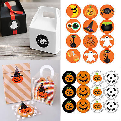 Halloween Paper Peel Off Stickers Bake Wrapping Gift Bags Decor Sealing Sticker