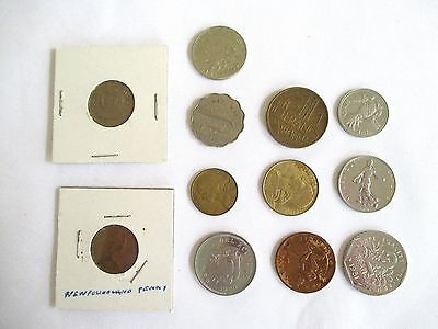 Lot Of 12 International Coins