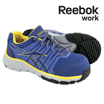 Reebok Work Composite Toe Purple/Yellow Athletic Shoes - Women's 8