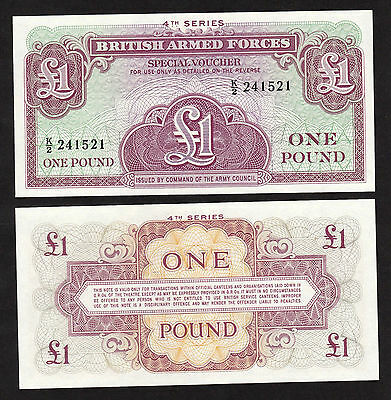 British Armed Forces UK, England Great Britain 1 Pound (1962) M36 banknote - UNC