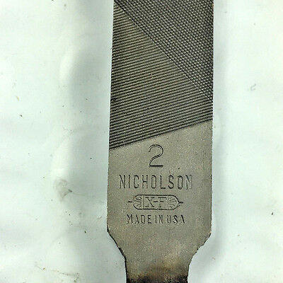 "Nicholson X. F.  Pillar Narrow  8"" Swiss Pattern File No 2 Smooth on 2 Edges."