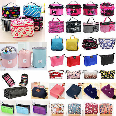 Womens Travel Cosmetic Case Toiletry Makeup Handbag Organizer Storage Pouch Bag