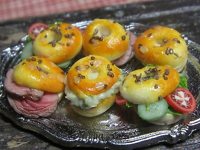 12th scale dollhouse dolls house food~Seeded bagels ~ by redclegg