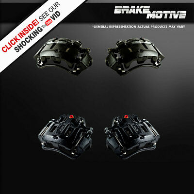 Front and Rear Brake Black Calipers 2000 2001 2002 2003 2004 EXCURSION F250 F350