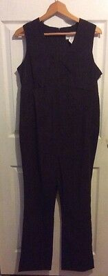Motherhood chocolate brown jumpsuit one piece romper size s stretch Maternity