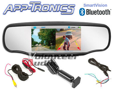 App-Tronics SmartVision Mirror with Front & Rear Recording DVR and Bluetooth 4.0