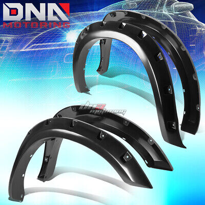 For 09-17 Dodge Ram 1500 Fender Wheel Flares Kit Pocket Rivet Black Abs Plastic