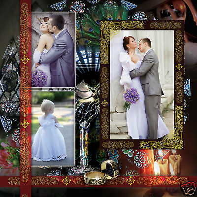 ELEGANT WEDDING PHOTO ALBUM PSD TEMPLATES Photoshop V.7  *