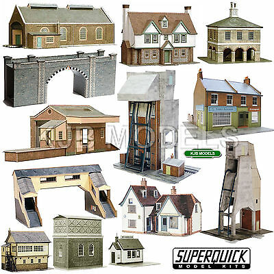 Superquick 1:72 HO / OO Buildings Series A, B & C Building Kits - Model Railway