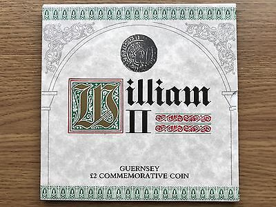 1988 £2 Bailiwick of Guernsey - William II of Normandy Two Pound Coin BU Folder