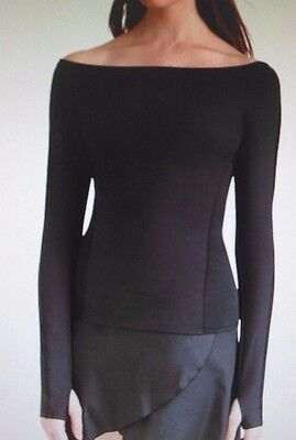 NWT CAPEZIO LongSleeve tactel top, sheerside insets thumbholes Frontlined TC109C