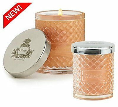 Agraria Perfume Candles in Decorative Crystal Glass - Bitter Orange Pack of 2