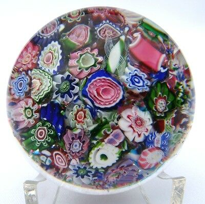 Clichy1850, Paperweight, End of Day, Millefiori, Miniatur, Briefbeschwerer