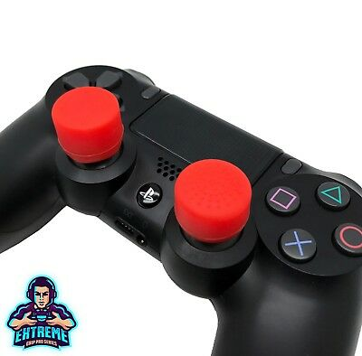 [RED] Extreme Analog Thumb Stick Cover Grip Caps Extenders for PS4 Controller