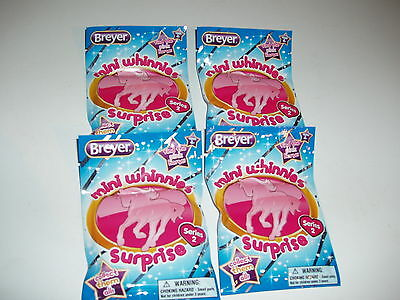 Breyer*Series 2*MINI WHINNIE*FOUR (4) BLIND BAGS*Free Shipping**BRAND NEW!!
