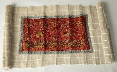 exotic chinese machine embroidery miao people's homespun hand-woven fabric 2.4M