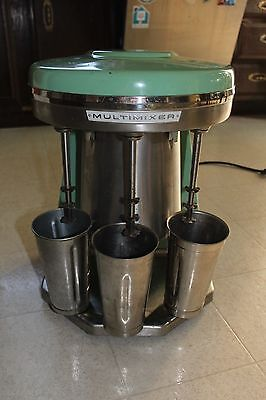 VINTAGE STERLING MODEL 9B Jadeite GREEN MULTIMIXER 3 HEADS WORKS Soda Fountain