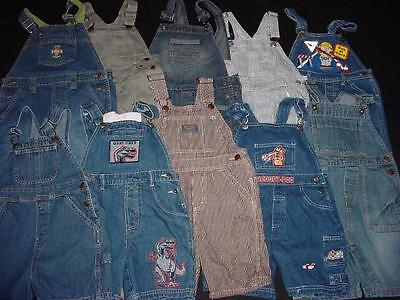 Used Baby Toddler Boy One Piece 3T 4T Spring Summer Overall Shorts Clothes Lot
