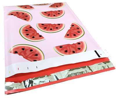 25 10x13 Red & Green Watermelon Designer Mailers Poly Shipping Envelopes Bags