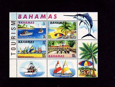 Bahamas - 1969 - Fishing - Sail Boat - Beach - Tourism - Mint S/sheet!