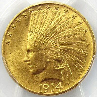 1914 Indian Head $10 Gold Eagle - PCGS MS62 - Certified & Graded 22K