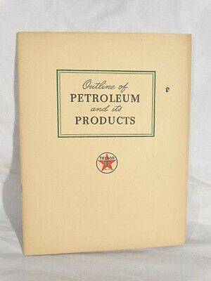 FLAWLESS ORG. 1944 TEXACO GAS COMPANY PETROLEUM PRODUCTS MANUAL BOOK w/ CHART