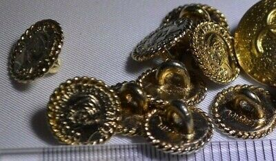 Lot of 13 genuine Chanel Goldton Buttons - Excellent  Condition - Free Shipping