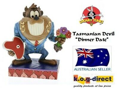Jim Shore Looney Tunes Collection Taz The Tasmanian Devil Dinner Date Figurine