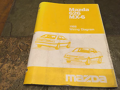 1988 mazda mx-6 626 electrical wiring diagram service manual mx6