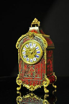 Superb Antique French Boulle Cut Brass 8 Day Strike Mantel Clock approx.1880