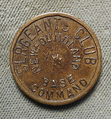 Military: Newfoundland Base Command, Sergeants Club GF 5c IT CN30a Canada
