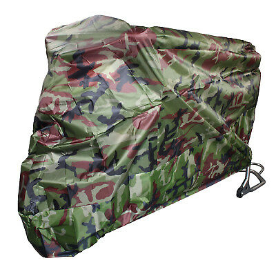 Camouflage XL Waterproof UV Outdoor Motorcycle Motorbike Bike Scooter Cover