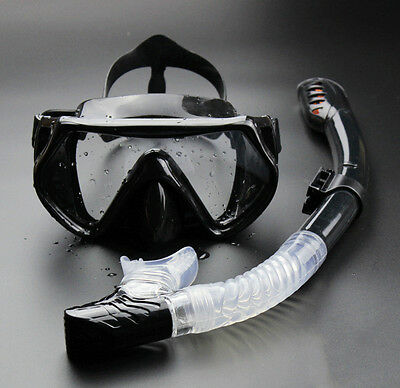 Adult Mask Dry Diving Snorkel Scuba Snorkelling Dive Swimming Goggles Set 7762HC