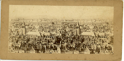 STEREO France, Paris, panorama de Saint-Germain-des-Près  Vintage albumin card