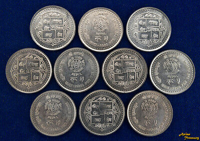 1990 Nepal 5 Rupee Km#1053 F.a.o. World Food Day Campaign Nickel Coin Au/unc