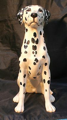 "Beswick Dalmatian Fireside Series White with Black Spots.Signed. Approx 14"" high"