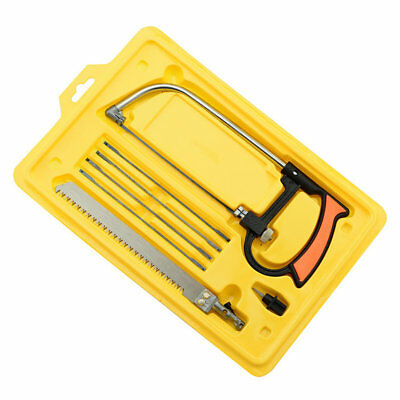 8 in 1 Metal Magic Saw Hacksaw Hand DIY Mini Tool Kits 6 Blades Model Tool HT