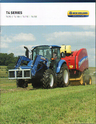 """New Holland """"T4 Series"""" Tractor Brochure Leaflet"""