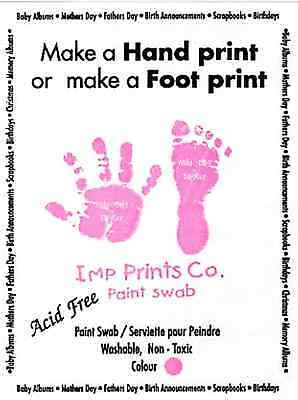 New Baby Girl Pink Toddler Newborn Imprint Paint Wipe Handprint Footprint Kit