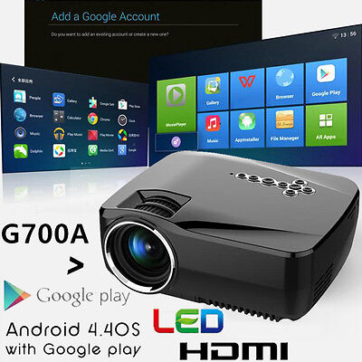 1200Lm Android Mini Proyector Wi-Fi 3d HD LED Cine en Casa Cine HDMI Bluetooth