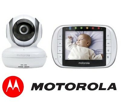 NEW Motorola MBP36S Digital Camera Video Baby Monitor Night VIsion, LCD HD +WTY