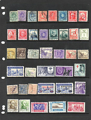 Spain - Stock book page of mint and used stamps (2015)