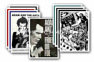 Adam & The Ants  - 10 promotional posters - collectable postcard set # 1