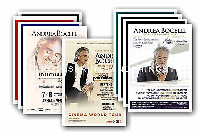 Andrea Bocelli  - 10 promotional posters - collectable postcard set # 1