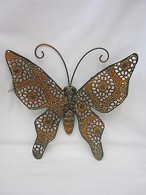 New Metal Rustic Butterfly Hanging Wall Plaque Fah1