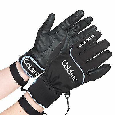 Caldene Waterproof Gloves Reinforced Hands Horse Riding Equestrian Accessories