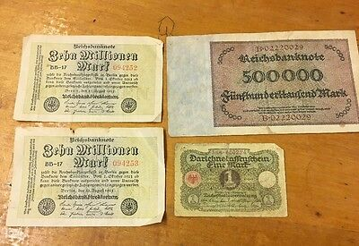 Lot Of German Marks- Bank Notes - Foreign Money