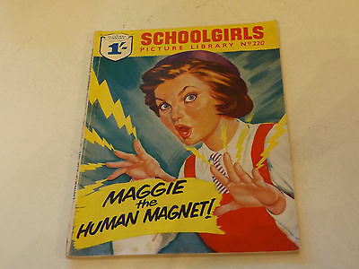 SCHOOLGIRLS PICTURE LIBRARY,NO 220,1963 ISSUE,GOOD FOR AGE,54 yrs old,VERY RARE.